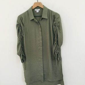 Bar III Hidden Button Front Shirt Dress